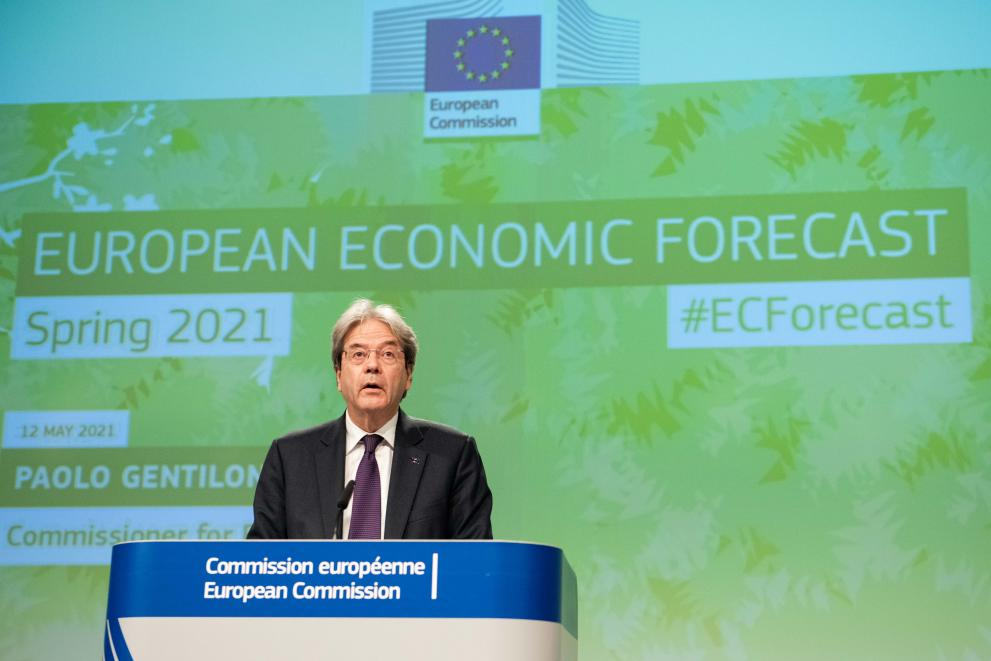 Press conference by Paolo Gentiloni, European Commissioner, on the Spring 2021 Economic Forecast