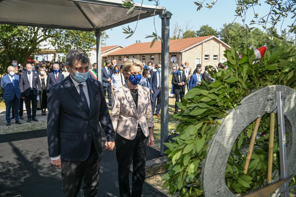 Visit ofUrsula von der Leyen, President of the European Commission, to Italy