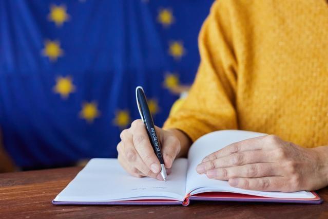 Symbolic - EU pen and flag